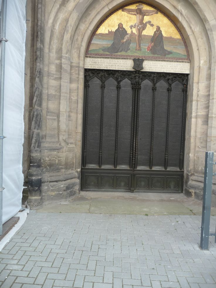 Schlosskirche Wittenberg, Germany: the door with Luther's Thesen (propositions)