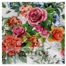 CreativeHobby Serwetka do decoupage 33x33 cm - motywy kwiatowe - CreativeHobby - Decoupage