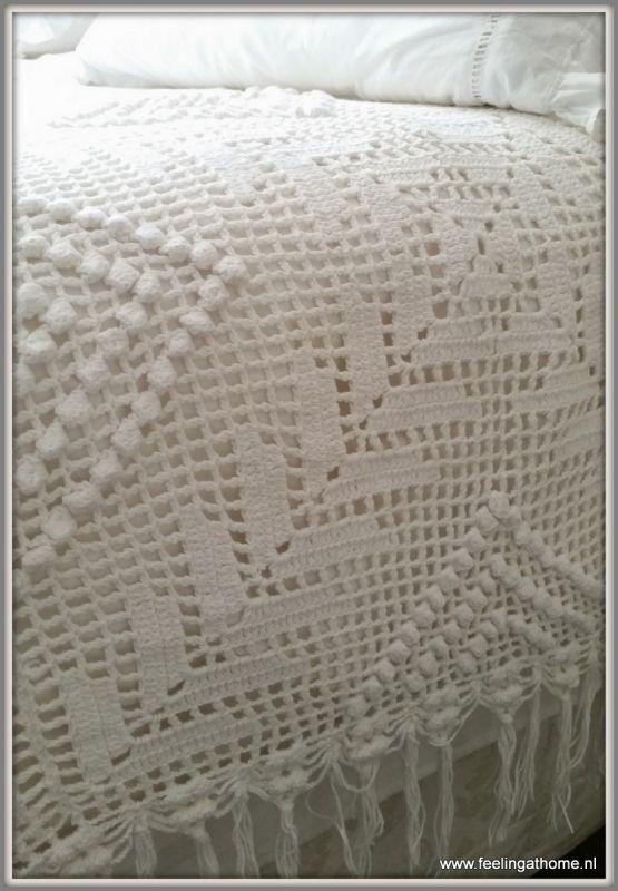 Gehaakte sprei crochet bedspread  200 * 165