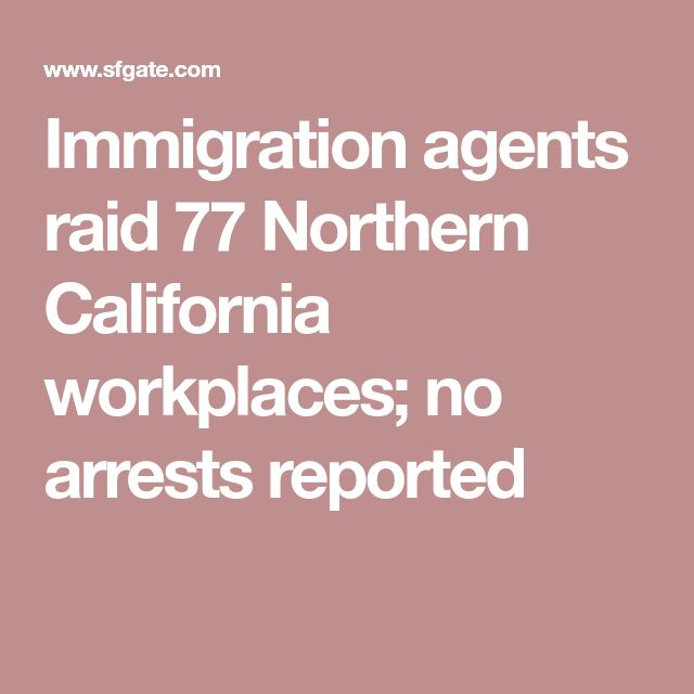 Immigration agents raid 77 Northern California workplaces; no arrests reported