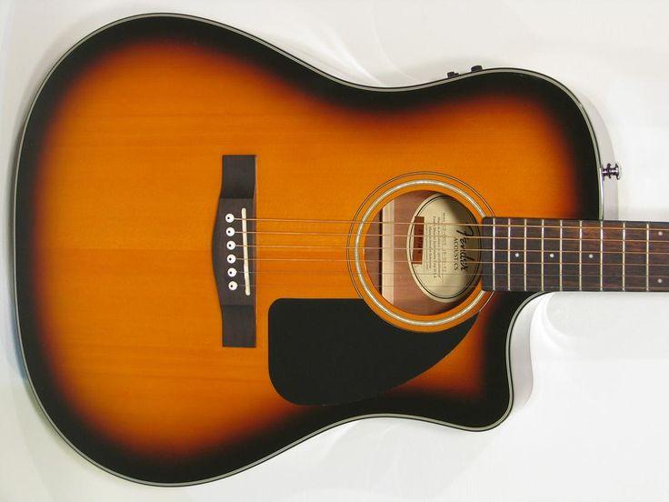 Fender CD60CE Acoustic-Electric Guitar Vintage Sunburst with HSC - https://magemusiconline.com/product/fender-cd60ce-acoustic-electric-guitar-vintage-sunburst-with-hsc/