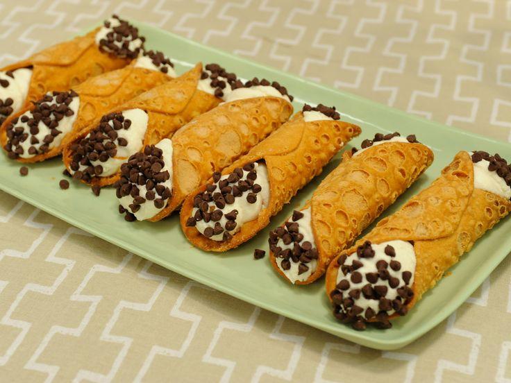 Homemade Cannoli Recipe : Food Network - FoodNetwork.com
