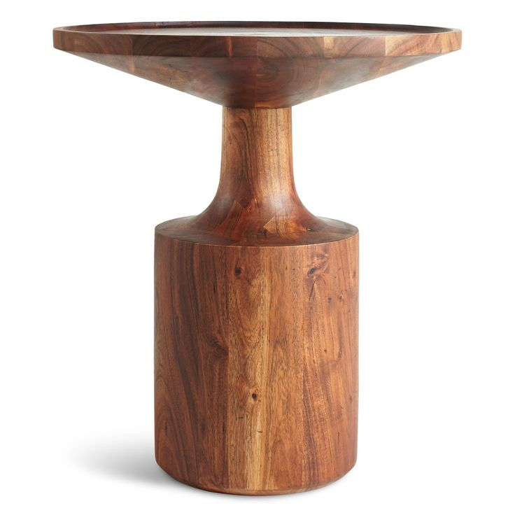 Turn Tall Side Table Is Ideal For Living Room Areas Features Round Top Crafted With Acacia Wood Designed By Blu Dot