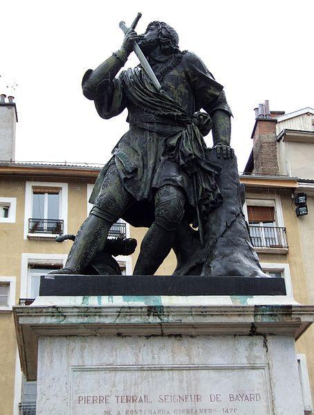 Statue du chevalier Bayard. Grenoble