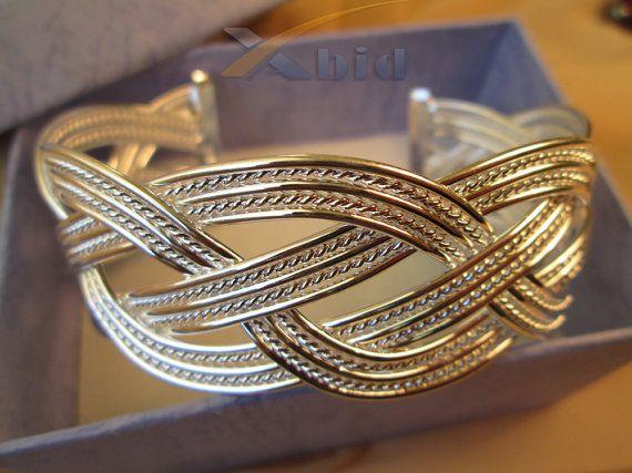 Sterling silver bracelet. Solid sterling silver 925 cuff by xabid, $64.00