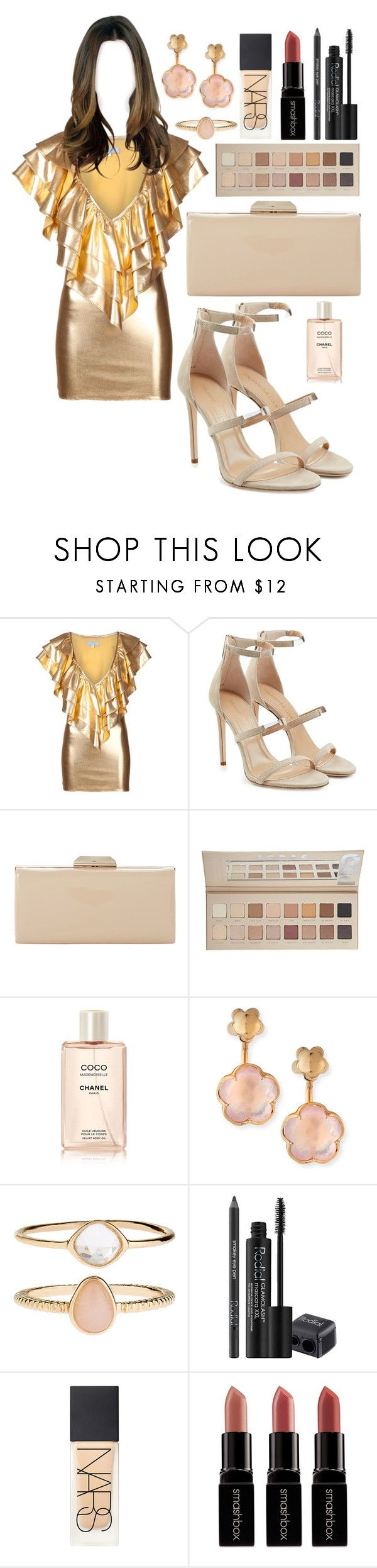 """""""Untitled #1745"""" by elizabeth-xsomosmasqueamorr ❤ liked on Polyvore featuring JULIA CLANCEY, Tamara Mellon, Dune, LORAC, Chanel, Pasquale Bruni, Accessorize, Rodial, NARS Cosmetics and Smashbox"""
