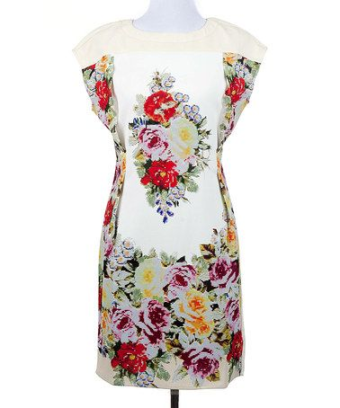 Look what I found on #zulily! White Floral Fame Dress by Ju's #zulilyfinds