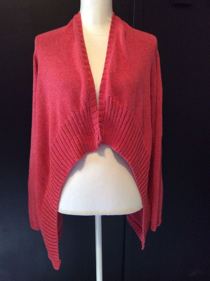 Soft Surroundings XL Fiesta Open Front Cardigan Asymmetrical Pre-Owned Condition #SoftSurroundings #Cardigan #Any