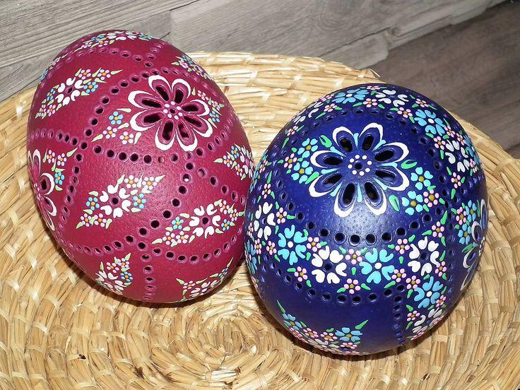 Dekorácie - Pštrosia modrá kraslica - 8034655_