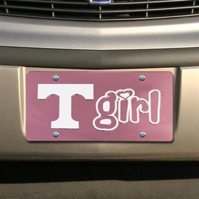 Tennessee Volunteers Pink Mirrored Tennessee Girl License Plate $21.95