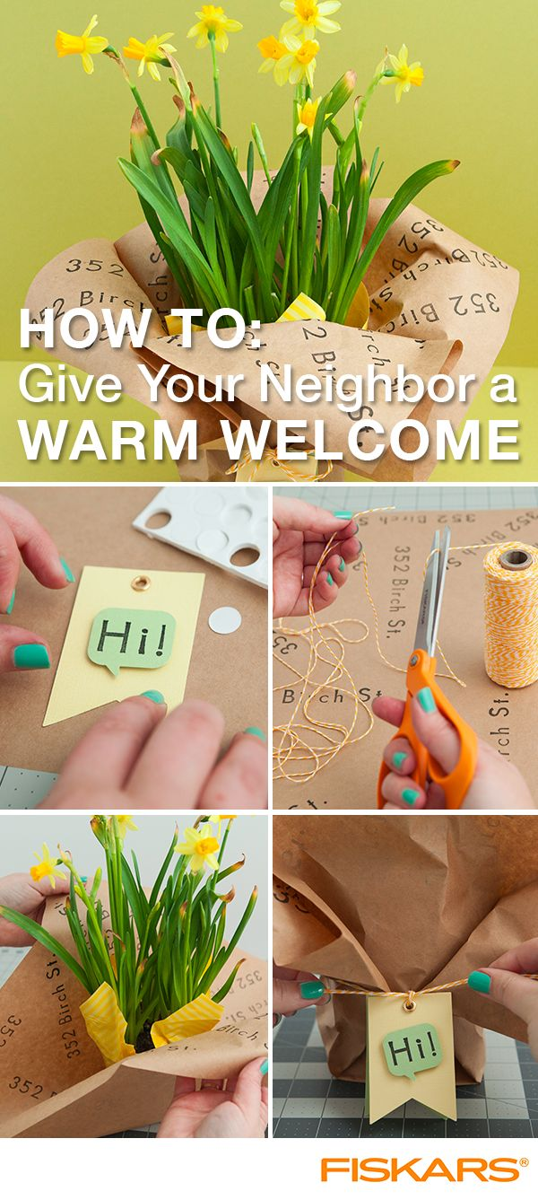 Welcome new neighbors with a friendly face and handmade gift! Find more inspiration like this on fiskars.com.