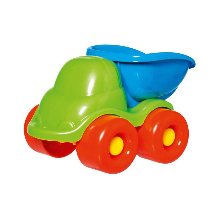 L'enfant peut s'amuser à faire rouler son camion benne à l'intérieur ou à l'extérieur. Grâce à la forme ronde des véhicules, les petites mains d'enfant les attrapent et les manipulent facilement.