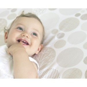 LoveYourBaby.com.au The Little Linen Company fitted cot sheet blue wiggle check Home