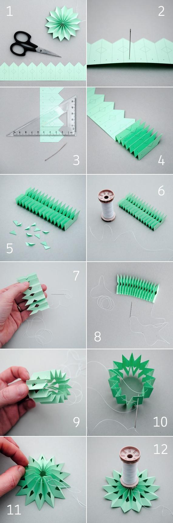 acordeón Cómo hacer guirnaldas de papel