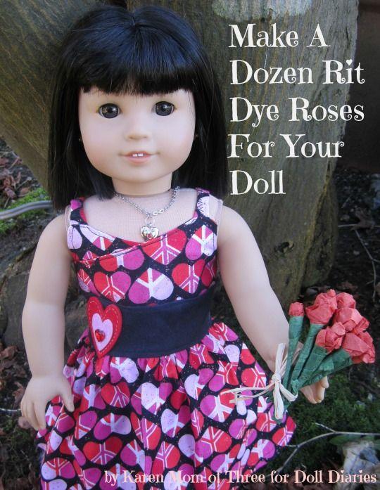 Make A Dozen Rit Dye Roses For Your Dolls