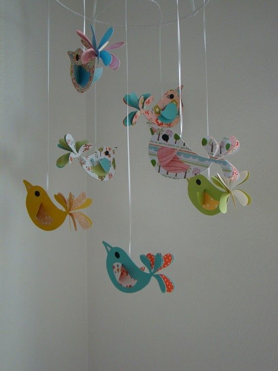 331 best images about alles f r unser kind decoration for Bird mobiles for nursery