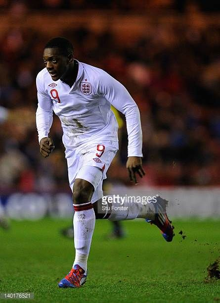 England player Marvin Sordell in action during the UEFA Under21 Euro 2013 Group 8 Qualifier between England U21 and Belguim U21 at the Riverside on...