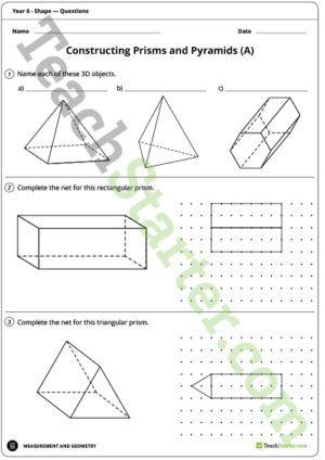 Shape Worksheets – Year 6