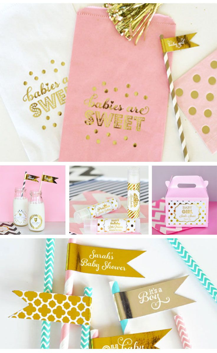 pink and gold baby girl decor make a charming addition to any princess themed baby shower