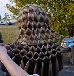 Very cool hair style.