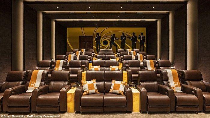 Potret Kemewahan Rumah Termahal Seharga Rp 3,3 Triliun! Kalau ini adalah bioskop pribadi. Foto: BAM Luxury