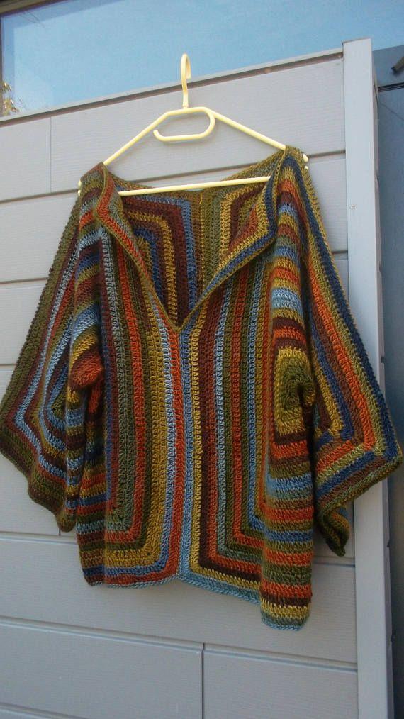 Jersey de ganchillo multicolor de 'festival' de mujer