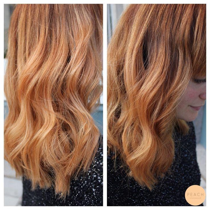 Koppar rosé hårfärg