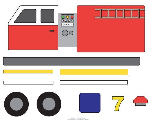 Template Tuesday: Fire Engines in honor of International Firefighters Day!... Letter F