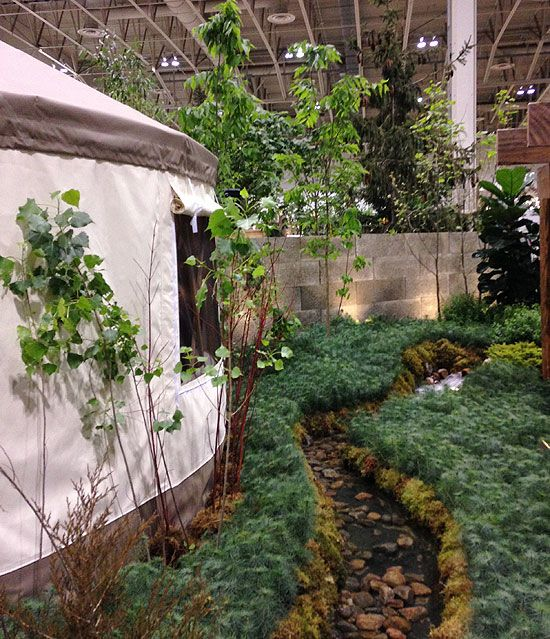 Yurt at Canada Blooms by Parklane