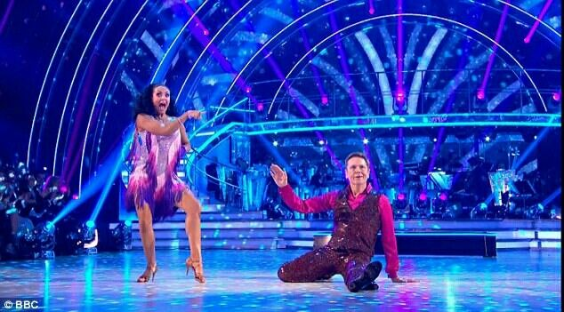 comedian Brian Conley, 53, and Amy  who performed the Cha Cha to Shake Your Groove Thing by Peaches and Herb and they recovered their overall score with an impressive scoring from the panel.
