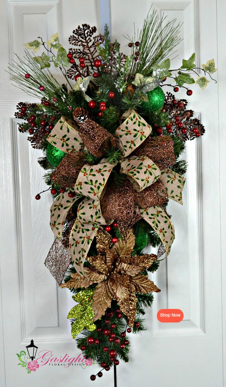 761 best christmas swags garlands images on pinterest for Christmas swags and garlands to make