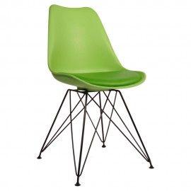 Dean-Consilium - Eetkamerstoel - Groen - Zwart Chroom. DEZE STOEL HEEFT U GEZIEN IN DE TROUW, PAROOL EN DE VOLKSKRANT.  De Dean stoel is een schitterende en tijdloze stoel voor slechts 69 euro per stuk. De stoel is voorzien van een verchroomd of zwart poeder gecoat onderstel en een comfortabel gestoffeerd zitkussen in bijpassende kleur.