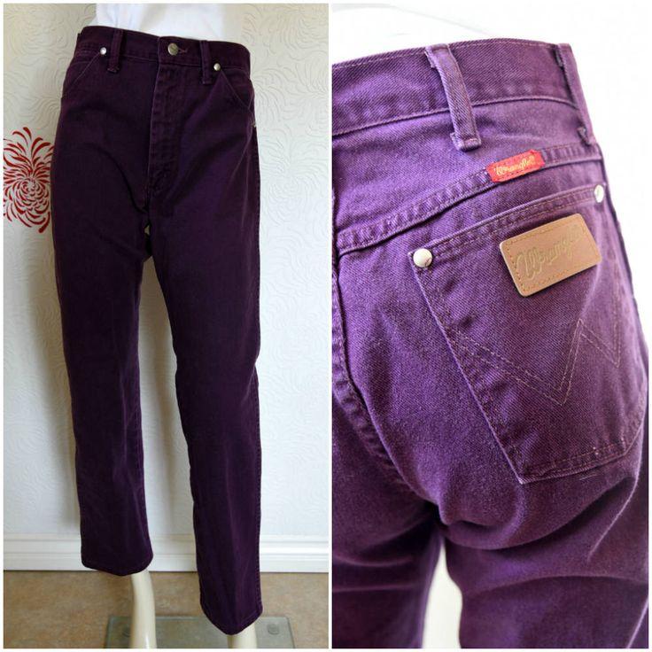 Vintage Wrangler Jeans | Purple Jeans | Vintage Denim | High Waist Jeans | Mom Jeans | Womens Wrangler Jeans | Vintage Wrangler | Plum Jeans by RubyVintageBoutique on Etsy https://www.etsy.com/listing/564793359/vintage-wrangler-jeans-purple-jeans