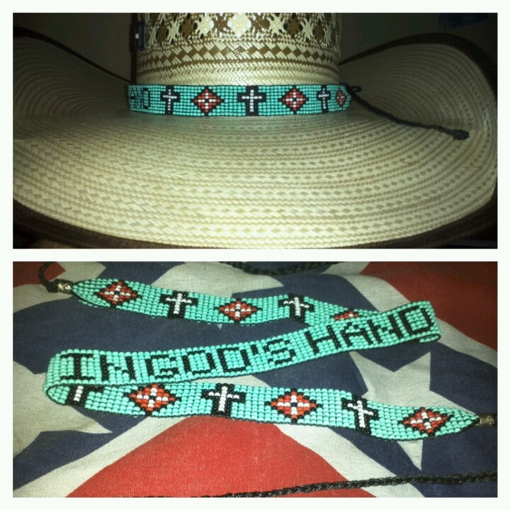 hat blue bands collections beaded ljgreywolf american herringbone native band