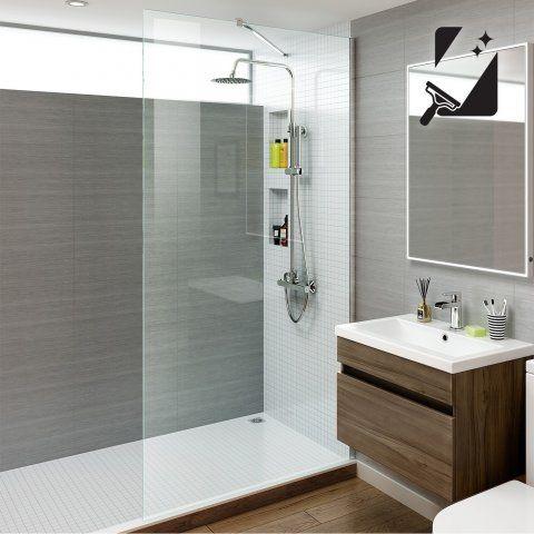 1200mm Premium EasyClean Wetroom Panel 8mm thick glass - soak.com