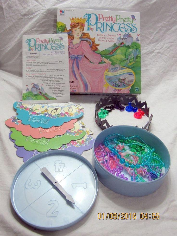 Vintage 1999 Milton Bradley Pretty Pretty Princess Game 100% Complete Counted #MiltonBradley