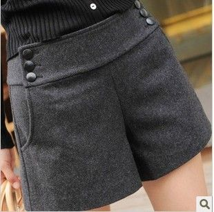 Hot sale Women Clothing 2013 Autumn Winter Fashion Woolen Short Pants All-Match Boot Cut Jeans Female Shorts Ladies' Trousers XL