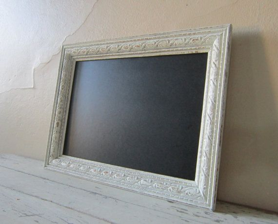 Framed Chalkboard - Rustic - French Market - Shabby and Chic - Cottage chic home decor.