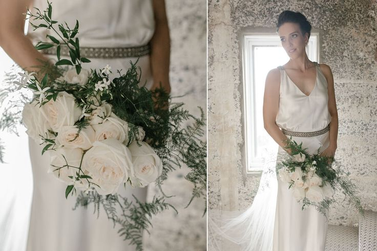 Beautiful bridal flowers created by Shady Fig on the NSW South Coast, Australia. Photography Into The Clearing. Gown Johanna Johnson.