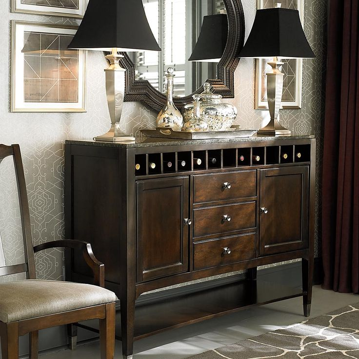 Cosmopolitan Sideboard With Stone Top