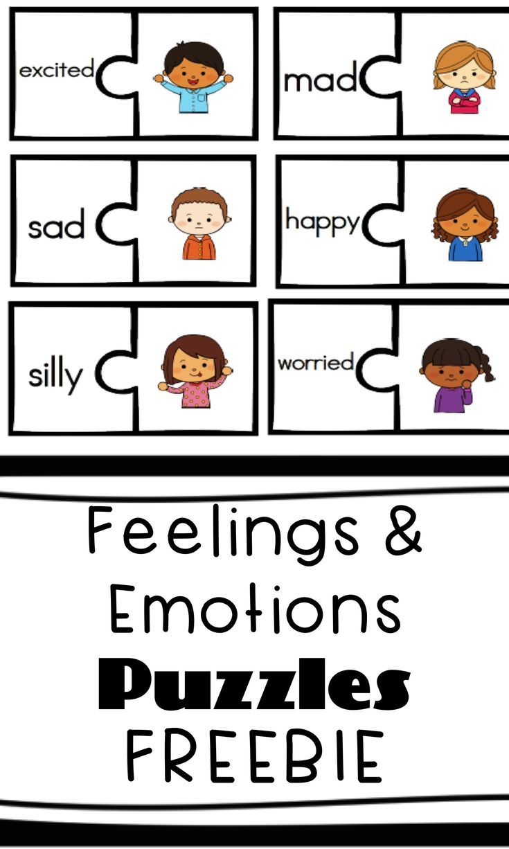 Feelings And Emotions Puzzles Kindergarten Pinterest Learning