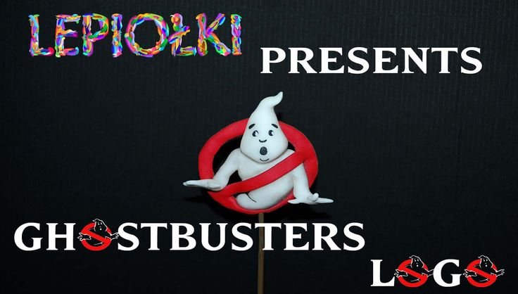 Ghost Busters Logo polymer clay  made hand, movie, sculpting, clay, z modeliny,