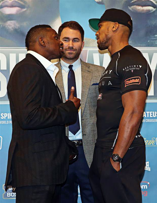 """""""You make it out like you're a nice guy, you're scum"""" – fighting talk from Whyte http://www.boxingnewsonline.net/dillian-whyte-challenges-weak-anthony-joshua-to-a-street-fight/ #boxing"""