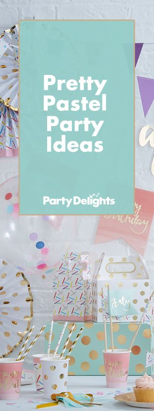Throw a cute pastel party with our pretty pastel party ideas. Browse pastel party decorations, pastel-coloured cakes and more. A lovely party theme for birthdays and weddings.