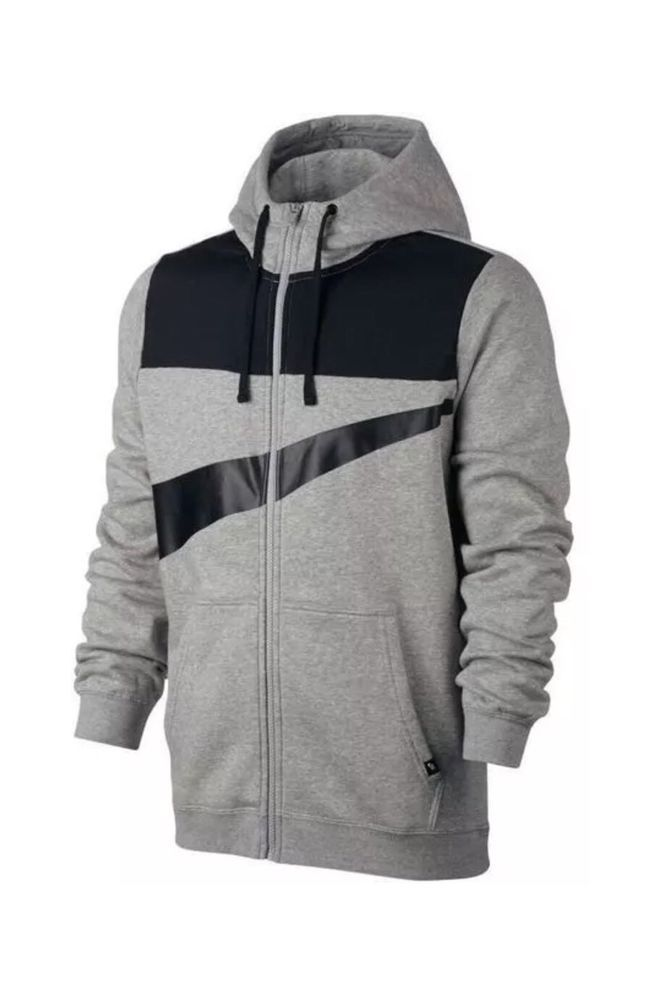 Nike Sportswear Hybrid Swoosh Zip Hoodie Jacket 861712 063