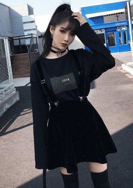 Velvet Skirt with Heart Clip Strap