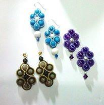 orecchini con pietre dure e swarovski