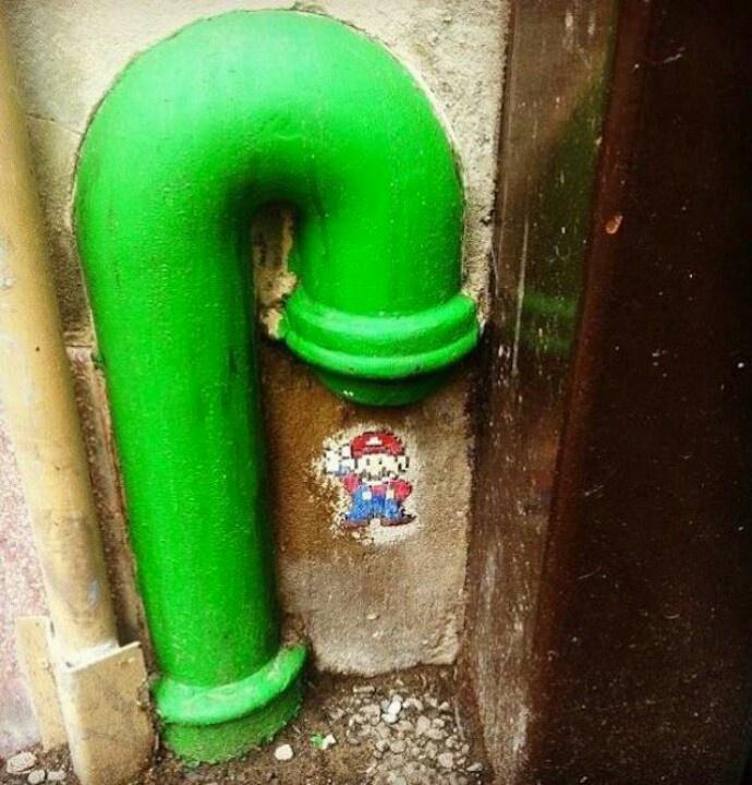 Street art. Mario