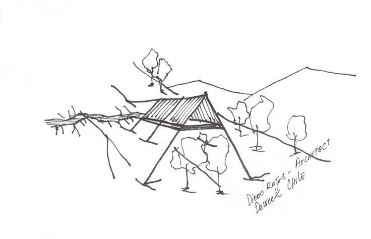 Sketch - refuge - Montain