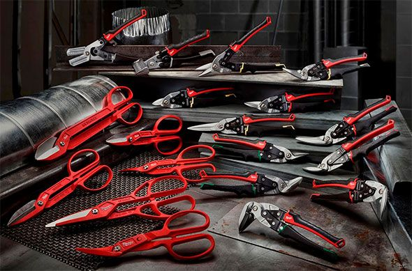 Milwaukee is coming out with some new tinner snips and sheet metal forming tools. Some sport classic designs, while others have some innovative and appealing features.